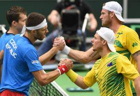 La joven pareja checa derrotó inesperadamente a los favoritos australianos. Foto: ČTK.
