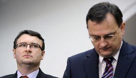 Pavel Drobil y Petr Nečas, foto: ČTK