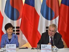 Park Geun-Hye et Miloš Zeman, photo: ČTK