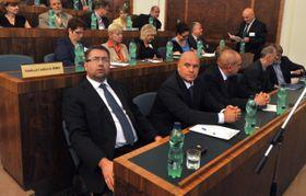 Co-owners of Baník Ostrava Petr Šafarčík, Libor Adámek, photo: CTK