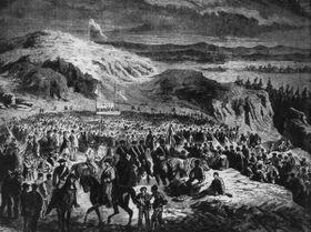 People's camp at Mužský hill (1869), photo: Public Domain