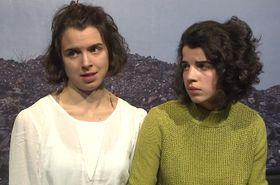 Josefína Formanová (vlevo) se svou sestrou Antonií, foto: ČT24