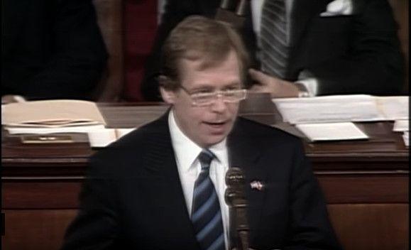 Le discour de Václav Havel devant le Congrès américain, photo: YouTube