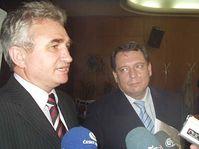 Milan Štěch (vlevo) a Jiří Paroubek, foto: Autor