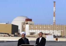 Hassan Rouhani und Ali Akbar Salehi am AKW Buschehr im Iran (Foto: Hossein Heidarpour, CC BY 4.0)