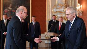 Ivan Pilný y Miloš Zeman, foto: ČTK