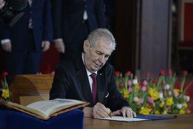La inauguración de Miloš Zeman, foto: ČTK