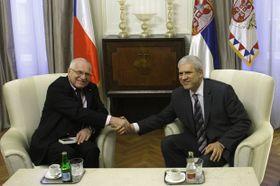Вацлав Клаус и Борис Тадич (Фото: ЧТК)