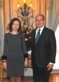Marie Chatardová et le Prince Albert II, photo: MZV ČR