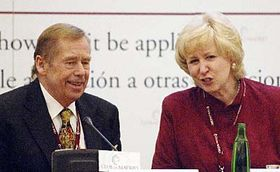 Vaclav Havel and Kim Campbell, photo: CTK