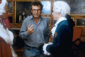 Miloš Forman en tournant le film Amadeus, photo: Warner Bros.