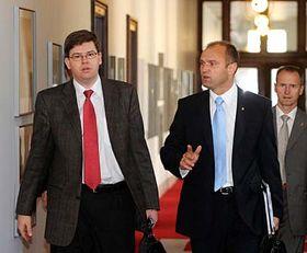 Ivan Langer (vpravo) aJiří Pospíšil, foto: ČTK