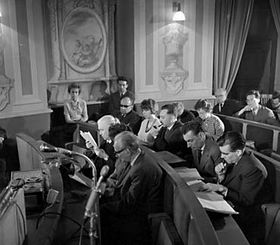 Le colloque Kafka, 1963, photo: CTK