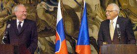 Vaclav Klaus und Ivan Gasparovic (Foto: CTK)