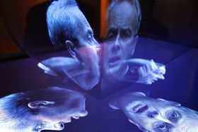 Alexander Hemala's hologram, photo: Richard Špůr / NaFilM