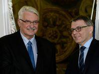 Witold Waszczykowski, Lubomír Zaorálek, photo: CTK