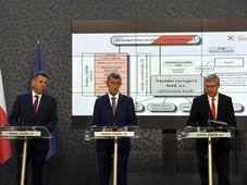 Jiří Jirásek, Andrej Babiš und Karel Havlíček stellen den Nationalen Entwicklungsfonds vor (Foto: ČTK / Michal Krumphanzl)