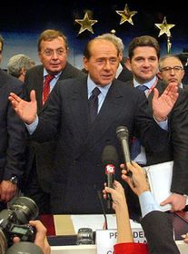 Las negociaciones sobre la Constitución de la UE - Silvio Berlusconi, foto: CTK