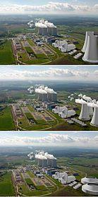 Tři vizualizace možné budoucí podoby Jaderné elektrárny Temelín, foto: ČTK