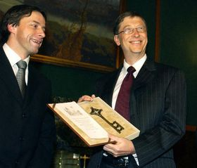 Pavel Bem and Bill Gates, photo: CTK