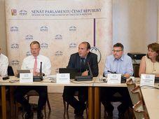 Tomáš Víšek, Michal Nebeský, Libor Michálek, Martin Tlapa, Irena Bartoňová-Pálková, photo: archive of Czech Senate
