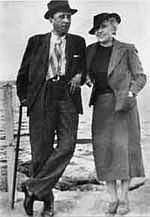 Karel Čapek with his wife Olga Scheinpflugová