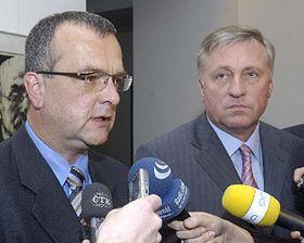 Miroslav Kalousek aMirek Topolánek, foto: ČTK