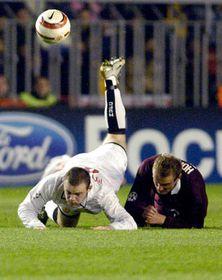 Футбольный матч Лиги чемпионов между пражской «Спартой» и «Манчестером Юнайтед» (Фото: ЧТК)