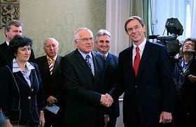 Václav Klaus aJan Švejnar, foto: ČTK