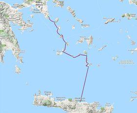 Trasa expedice Monoxylon III, foto: Google Maps