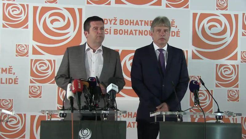 Jan Hamáček ARoman Onderka  (ČSSD), foto: FB ČSSD