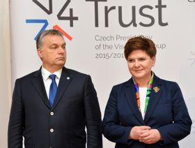 Премьер-министры Венгрии и Польши Виктор Орбан и Беата Шидло, Фото: ЧТК