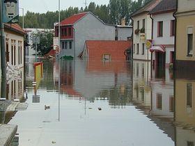 Hochwasserkatastrophe 2002 in Prag-Zbraslav (Foto: Archiv MČ Praha-Zbraslav)