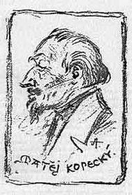 Matěj Kopecký na obrázku od Mikoláše Alše