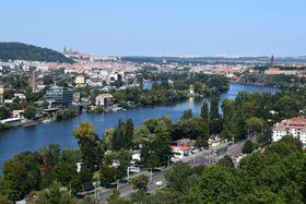 Вид на Прагу с Браницких скал, Фото: Екатерина Сташевская, Чешское радио - Радио Прага