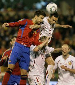 En Espagne, après le match, Michal Bílek a estimé que son équipe aurait mérité d'obtenir un meilleur résultat que cette courte défaite, photo: CTK