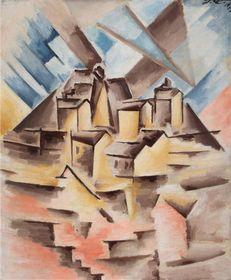 Josef Čapek, 'La périphérie de Marseille', 1912, source: Společnost bratří Čapků, public domain