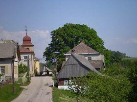 Borovnice - Dorfmitte (Foto: Gemeinde Borovnice)