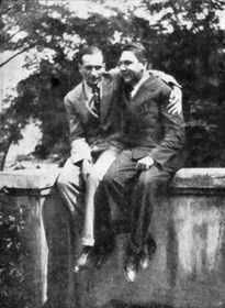 Philippe Soupault et Vítězslav Nezval en 1928, photo: public domain
