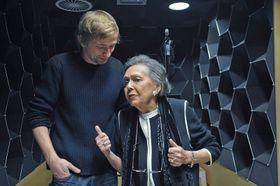 Jiřina Jirásková aLukáš Příkazký ve studiu, foto: Tomáš Vodňanský / Český rozhlas