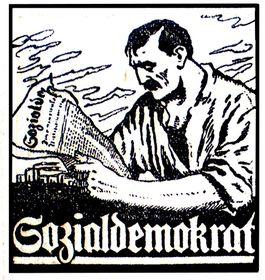 Werbung der Tageszeitung Sozialdemokrat, 1927 (Quelle: Archiv der Seliger Gemeinde Bayern)