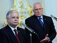 Lech Kaczynski and Václav Klaus, photo: CTK