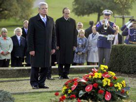 Joachim Gauck vLidicích, foto: ČTK