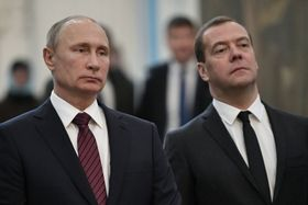 Владимир Путин и Дмитрий Медведев, Фото: ЧТК