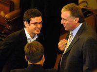 Ondřej Liška (vlevo) a premiér Mirek Topolánek, foto: ČTK