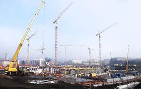 Construction of the new hockey arena, photo: CTK