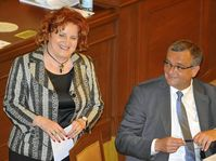 Vlasta Parkanová et Miroslav Kalousek, photo: CTK