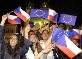 Fiesta del ingreso a la UE en Praga, foto: CTK