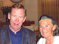 Hana Greenfield with Vaclav Havel
