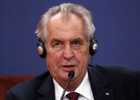 Miloš Zeman, photo: ČTK/AP/Darko Vojinovic